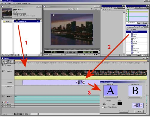 Adobe Premiere - Insertion d'une transition
